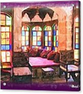 Do-00520 Emir Bachir Palace Interior-violet Bkgd Acrylic Print