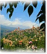 Do-00547 Town Of Bcharre Acrylic Print