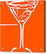 Do Not Panic - Drink Martini - Orange Acrylic Print