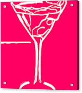 Do Not Panic - Drink Martini - Pink Acrylic Print