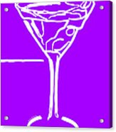 Do Not Panic - Drink Martini - Purple Acrylic Print by Wingsdomain Art and Photography