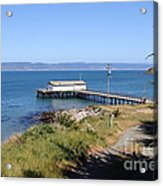 Dock At Point Reyes Calfornia . 7d16069 Acrylic Print