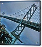 Dock By The San Francisco Bay Bridge Acrylic Print