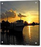 Dock Of The Bay In Florida  Acrylic Print