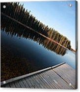 Dock On Northern Manitoba Lake Acrylic Print