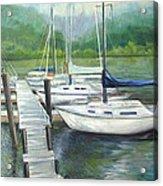 Dock Side Acrylic Print by Max Mckenzie