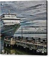 Docked Cruise Ship Three Acrylic Print