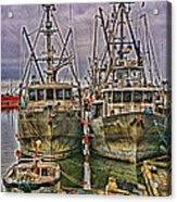 Docked Fishing Boats Hdr Acrylic Print
