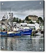 Docked For The Storms Acrylic Print by Dan Crosby