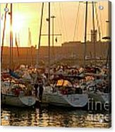 Docked Yachts Acrylic Print by Carlos Caetano