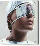 Doctor Blinded By Money, Conceptual Image Acrylic Print