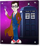 Doctor Who And Tardis Acrylic Print
