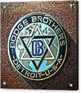 Dodge Brothers Badge Acrylic Print by Steve McKinzie