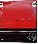 Dodge Challenger Hood And Grill Acrylic Print