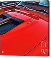 Dodge Super Bee Hood  In Red Acrylic Print