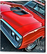 Dodge Super Bee In Red Acrylic Print