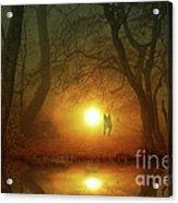Dog At Sunset Acrylic Print by Bruno Santoro