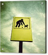 Dog Fouling Sign Acrylic Print
