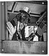 Dog On The Campaign Trail Acrylic Print