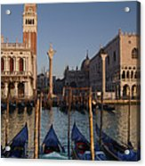 Doges Palace And San Marcos Bell Tower Acrylic Print