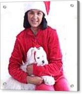 Doggie Christmas Acrylic Print by Vijay Sharon Govender