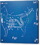 Doggie Vacuum Patent Artwork Acrylic Print