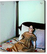Doll On Four Poster Bed Acrylic Print