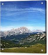 Dolomiti's Panoramic Acrylic Print