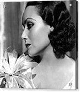 Dolores Del Rio, Portrait Ca. 1934 Acrylic Print by Everett
