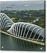 Domes Inside The Gardens By The Bay In Singapore Acrylic Print