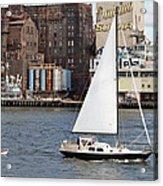 Domino Sugar Sailing Acrylic Print