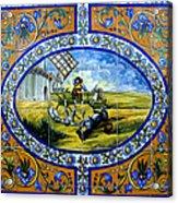 Don Quixote In Spanish Tile Acrylic Print