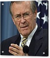 Donald H. Rumsfeld Secretary Of Defense Acrylic Print by Everett
