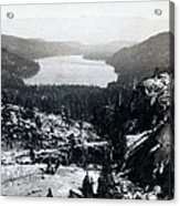 Donner Lake - California - C 1865 Acrylic Print