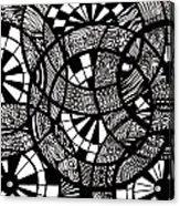Doodle Circular  Acrylic Print