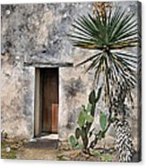 Door In Spanish Mission Building Acrylic Print