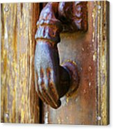 Door Knocker Acrylic Print