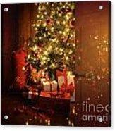 Door Opening Onto Nostalgic Christmas Scene   Acrylic Print