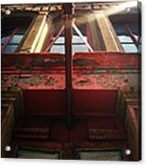 Door Top In Philadelphia Acrylic Print by Katie Cupcakes
