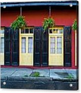 Doors And Shutters Acrylic Print