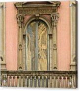 Doors Balcony And Duomo Reflection In Milan Italy Acrylic Print