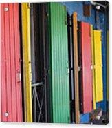 Doors Of Colors Acrylic Print