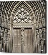Doorway Of St. Ouen Church Acrylic Print