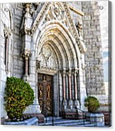 Doorway Sacred Heart Cathedral Acrylic Print