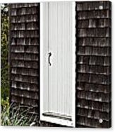 Doorway With Daisies Acrylic Print by Michelle Wiarda