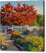 Dotti's Garden Autumn Acrylic Print