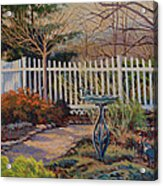 Dotti's Garden Winter Acrylic Print