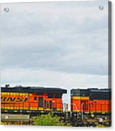 Double Bnsf Engines Acrylic Print
