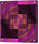 Double Rainbow Eddy Acrylic Print