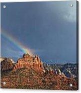 Double Rainbow Over Sedona Acrylic Print by Dan Turner